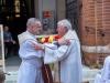 Messe mit Danksagung für Norbert Rodt als Pfarrer von Gersthof-St.Leopold für 44 Jahre - Neu bestellter Pfarre P. Arkadiusz Zakreta und sein Vorgänger Msgr. Dr. Norbert Rodt