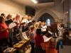 """Der Chor Allgro Vivace begleitete wieder einmal stimmungsvoll den Gottesdienst -- """"Eingangsfest"""" in das Gemeindejahr 2021/22 der Pfarre Gersthof-St.Leopold (Wien 18.,)"""