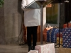 Maria Kissich, Leiterin der Pfarrcaritas, im Gottesdienst zum Abschluss der Weihnachtspaketaktion der Pfarre Gersthof-St.Leopold (Wien 18., Österreich)